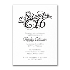Sweetest Sixteen - Birthday Invitation