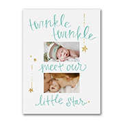 Twinkling Star - Photo Birth Announcement